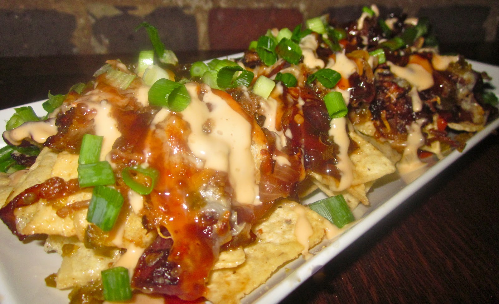 ... Fried Red Onions, Candied Jalapenos, Pimento Cheese-Beer Nacho Cheese