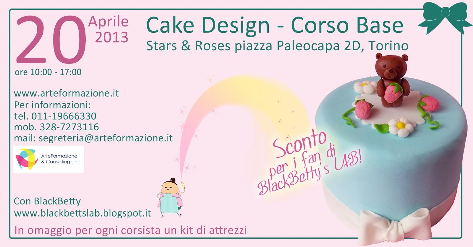 BlackBetty sLab: 1? Corso cake design - base a Torino