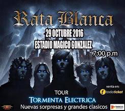 """RATA BLANCA EN EL """"ESTADIO MÁGICO GONZÁLEZ"""" (EL SALVADOR) - 29/10/2016"""