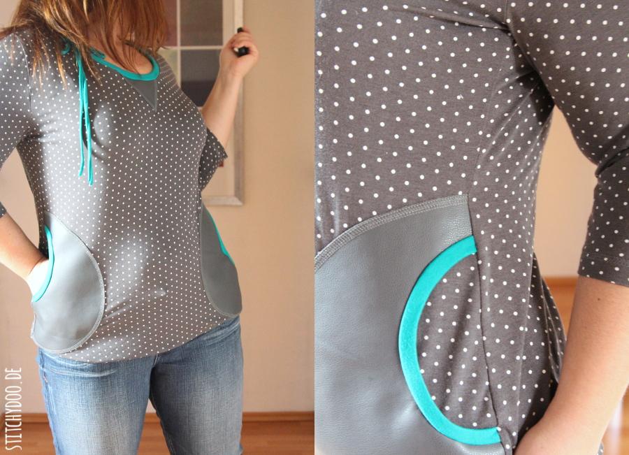 stitchydoo: Mehr Kleidung nähen in 2015 | #1 Lady Rose von mialuna mit Kunstledertaschen