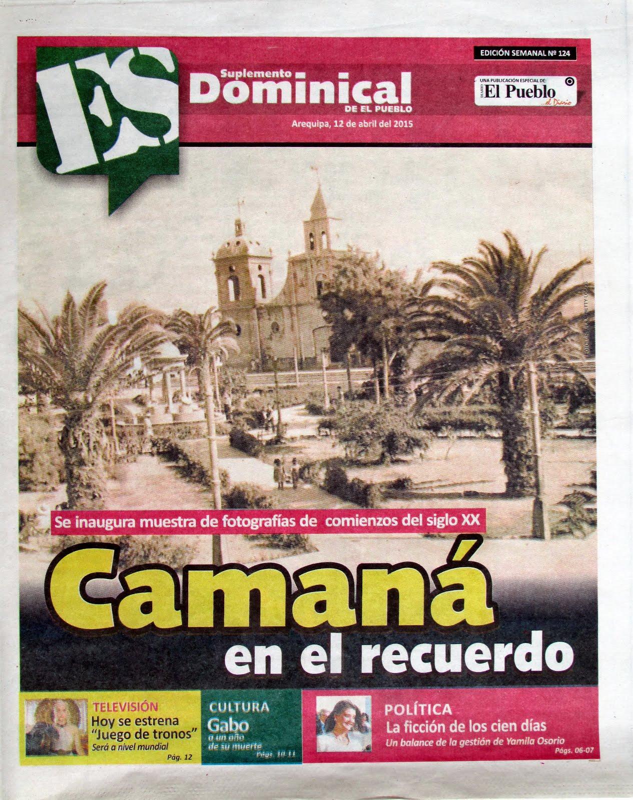 Diario El Pueblo, Suplemento Dominical. 12 de abril 2015 - 01
