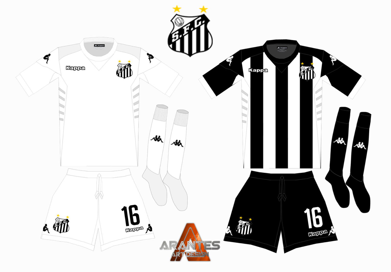 O uniforme branco tem apenas os logos da marca e números em preto e0d4362524654
