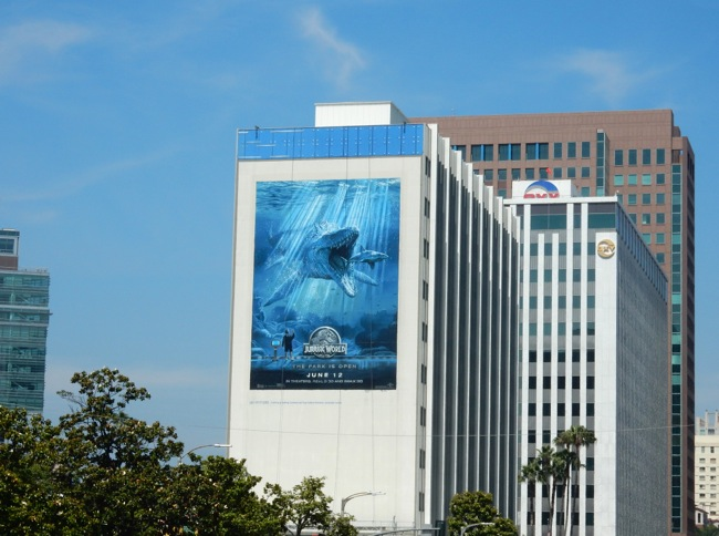 Jurassic World shark billboard