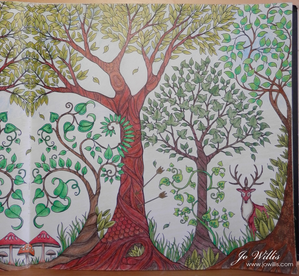 Its Another One From Johanna Basfords Enchanted Forest Colouring Book Done With A Mix Of Spectrum Noir And Prismacolor Pencils