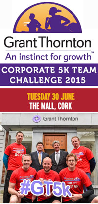 New 5k race in Cork City...Teams of 4...Tues 30th June