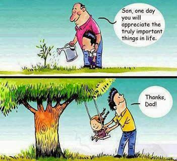 cartoon, son, dad, emotionally, touching, sad