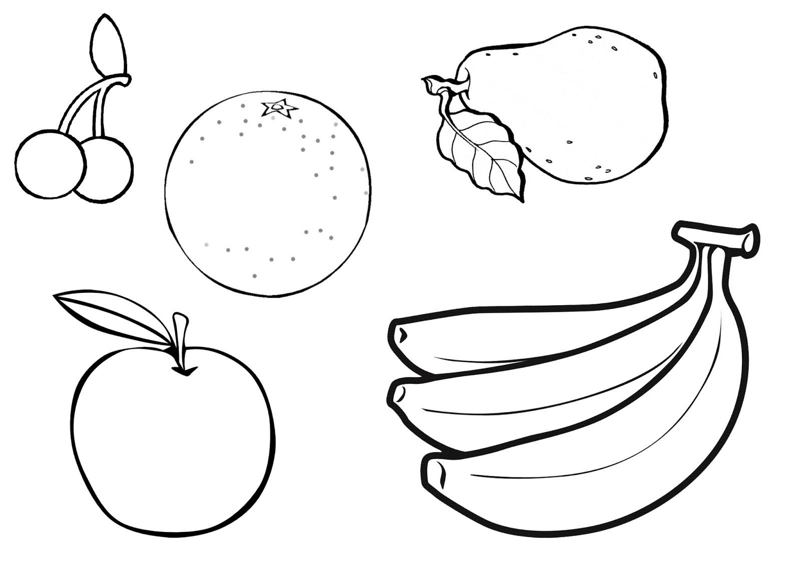 Fruit bowl coloring pictures - Esl Fruit Bowl