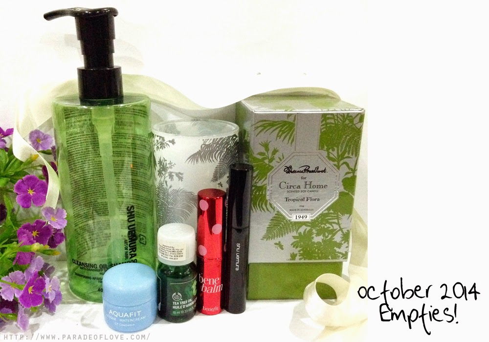 October 2014 Empties