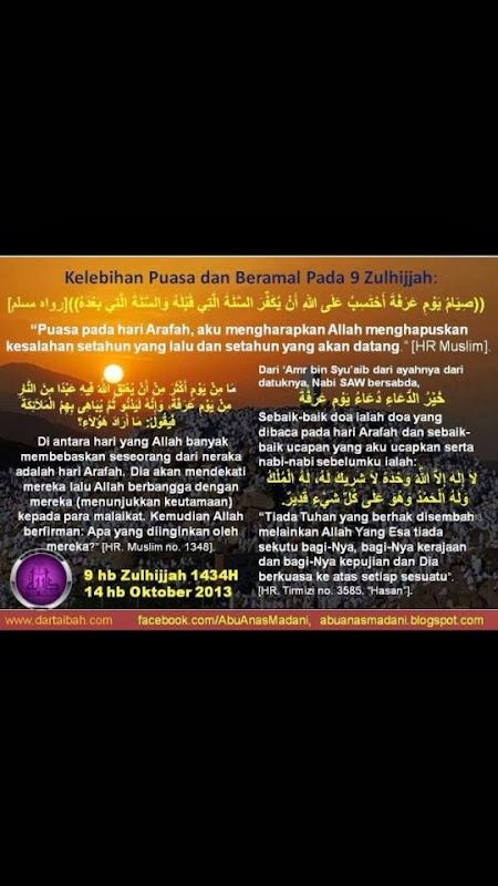 puasa hari arafah, puasa hari wukuf, puasa sunat, niat puasa arafah, niat puasa hari arafah, hari wukuf pada 9 zulhijjah, menu di bulan puasa,