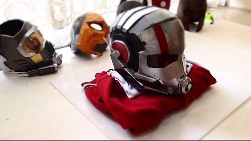 Dali lomo antman costume helmet diy cardboard free template how to make antman costume helmet solutioingenieria Gallery
