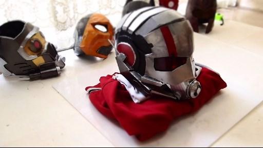 Dali lomo antman costume helmet diy cardboard free template how to make antman costume helmet solutioingenieria Images