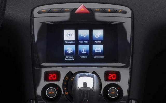 Novo Peugeot 308 2016 - sistema multimídia