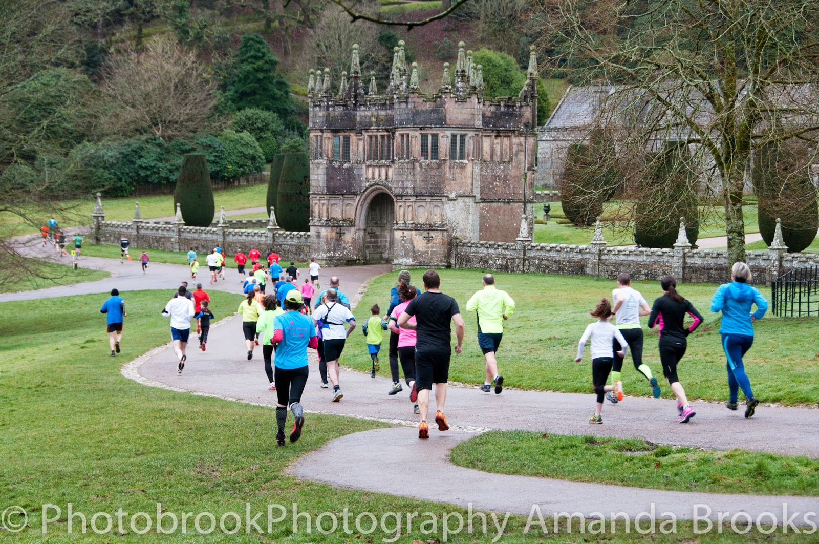 Park Run past Lanhydrock house