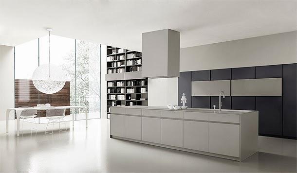 Marzua m onolite cocina minimalista de la firma italiana for Cocinas italianas
