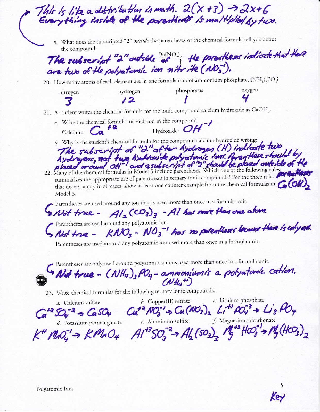Free Worksheets » Naming Covalent Compounds Worksheet ...
