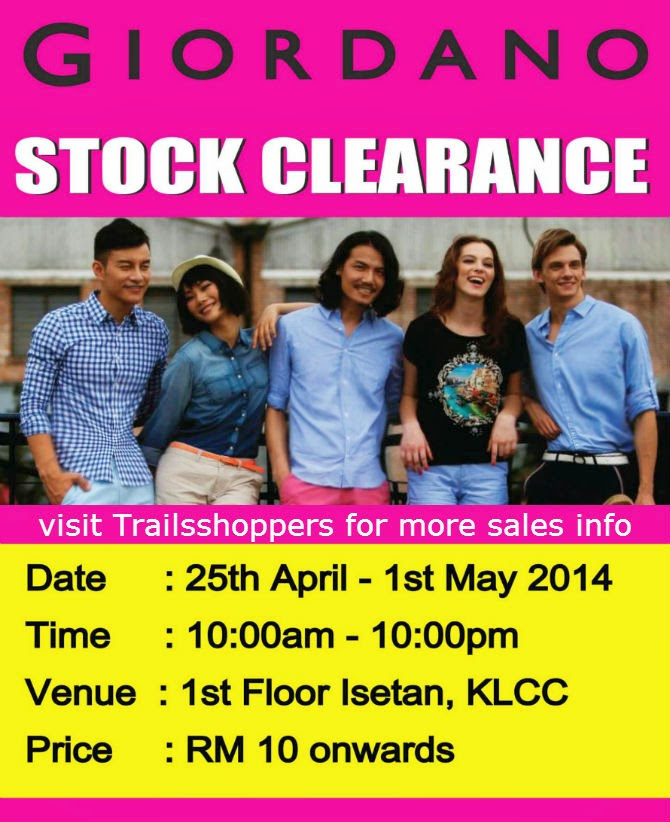 Giordano Stock Clearance at Isetan Suria KLCC