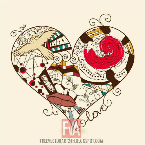 Beautiful-abstract-heart-vector-graphics