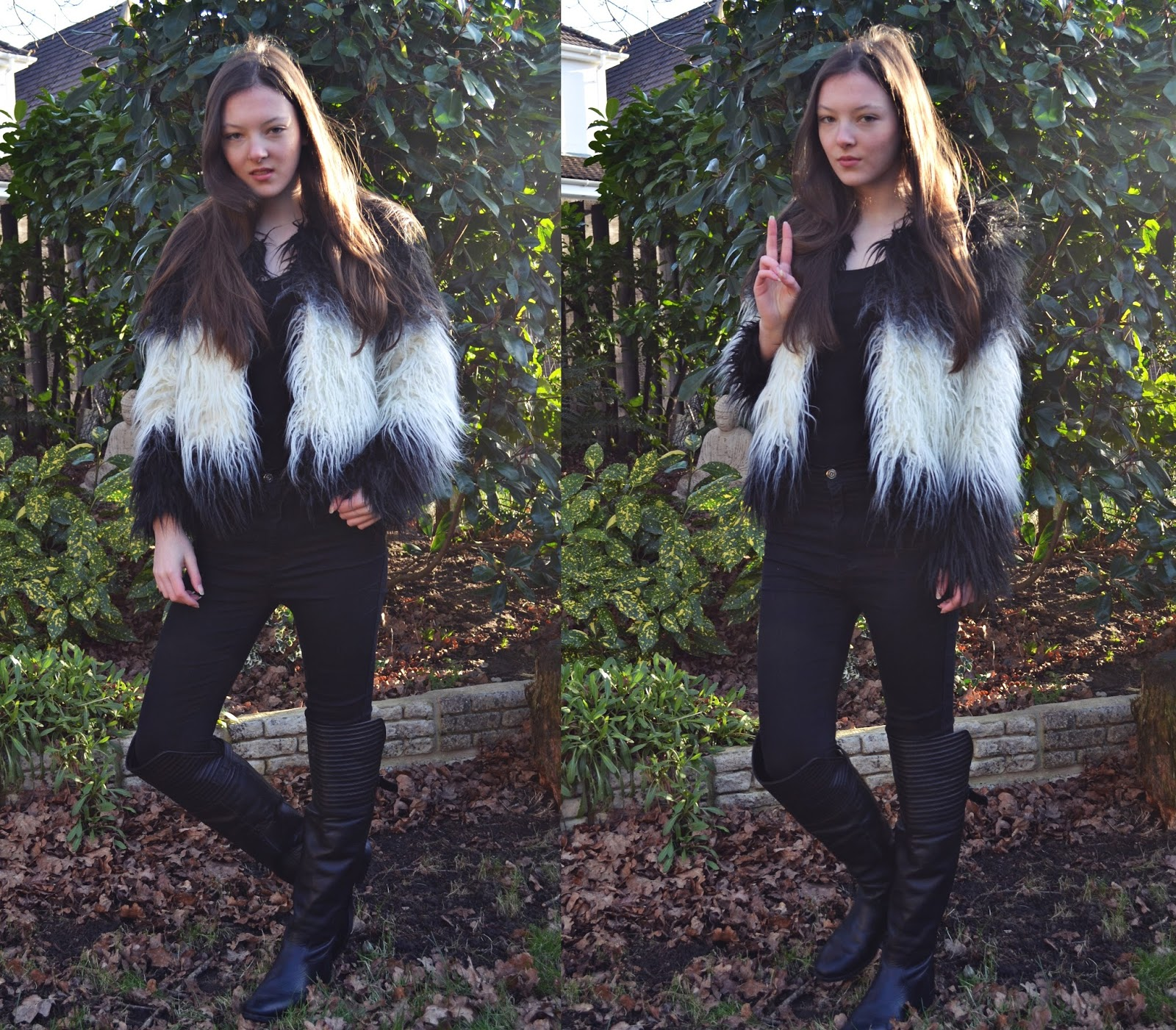 lunar look sass master faux fur jacket