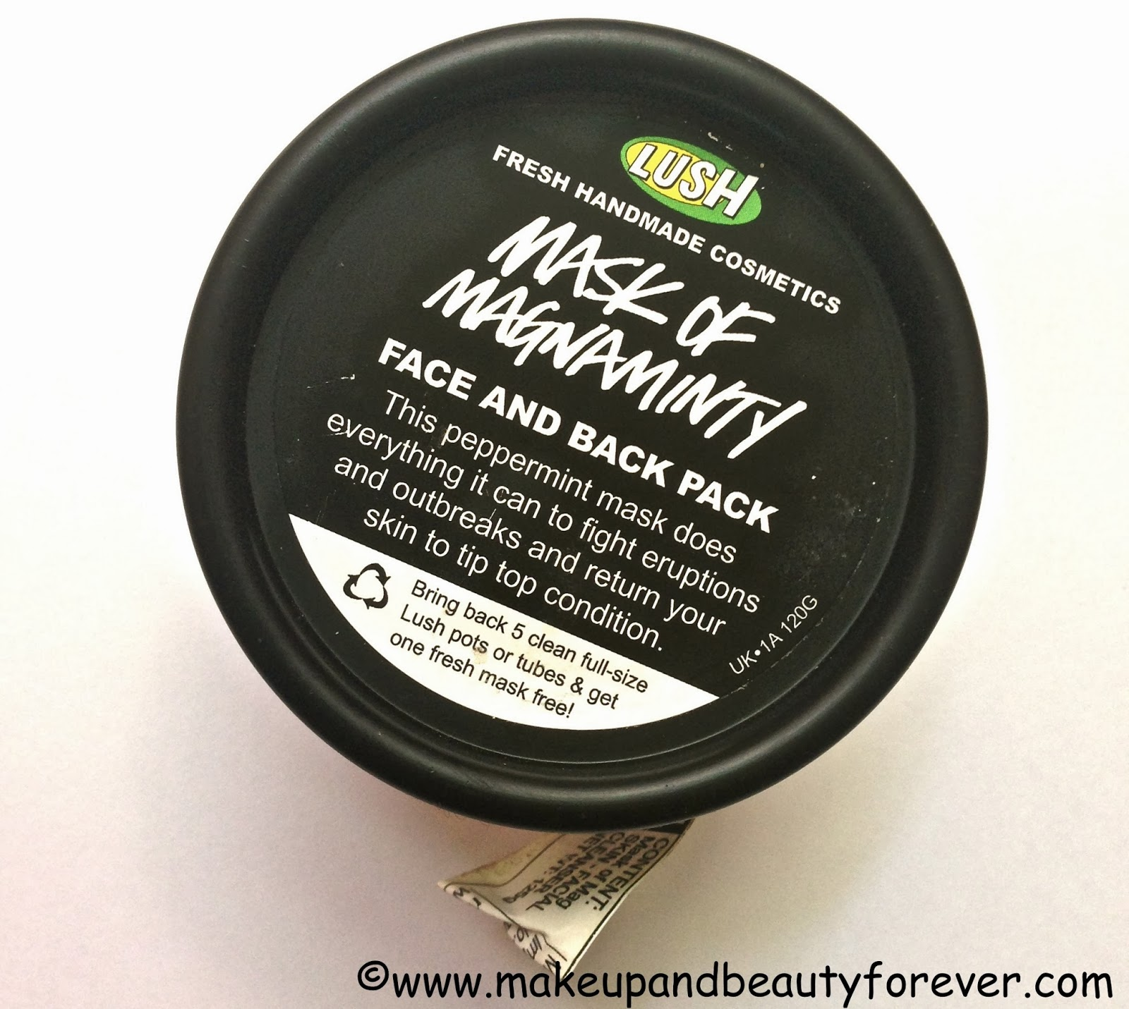 LUSH Mask of Magnaminty Review Makeupandbeauty