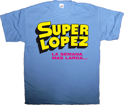 comic book superlopez autobombing superhero superman parody t-shirt ephemeral-t-shirts