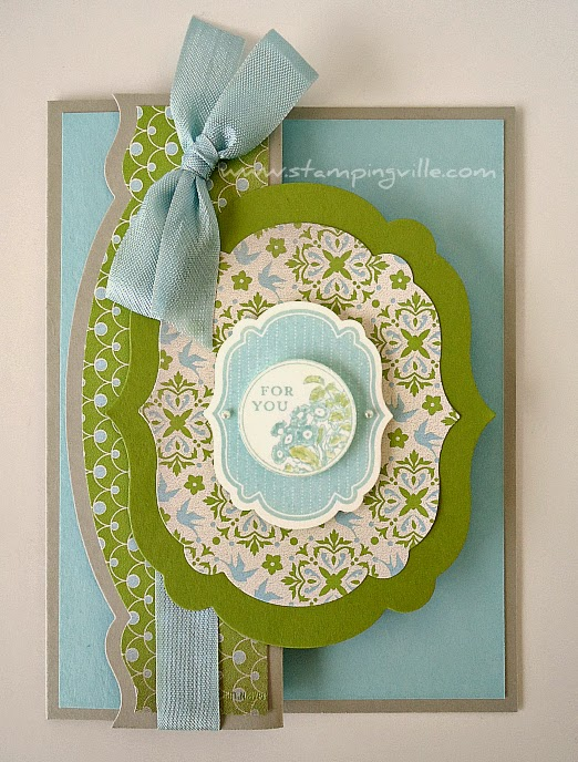Fancy fold card with Apothecary Art stamp set and Labels Collection Framelits Dies by Stampin' Up!