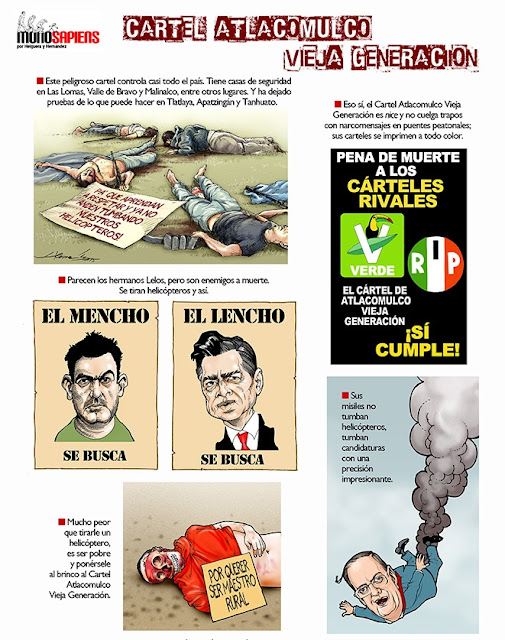 Caricaturas y dibujos de Peña Nieto y Ebrard