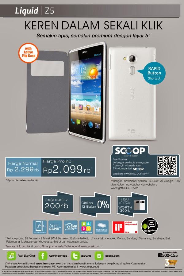 Acer Liquid Z5 promo harga spesial Rp 2.099.000