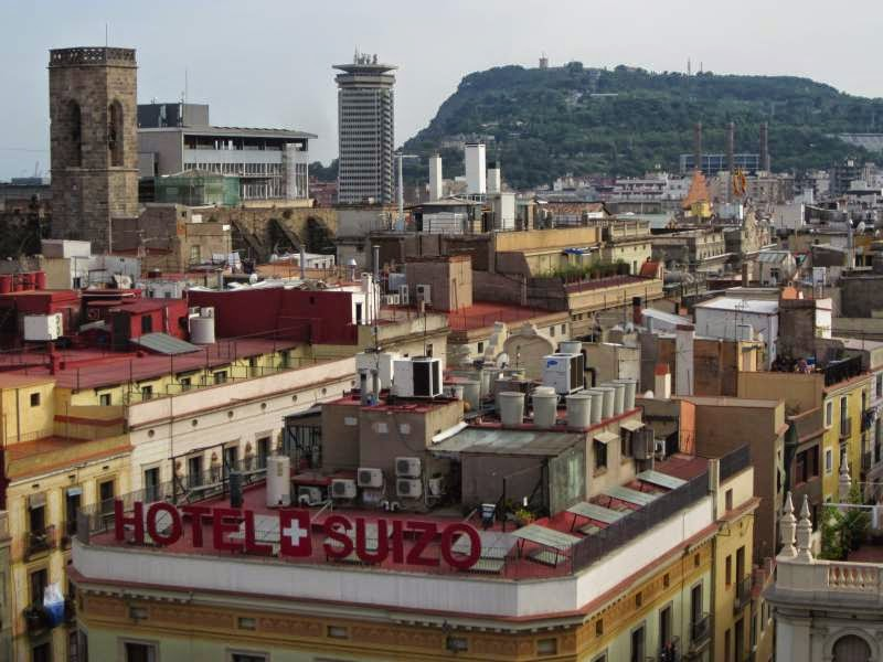Montjuic from H10 Montcada Hotel in Barcelona