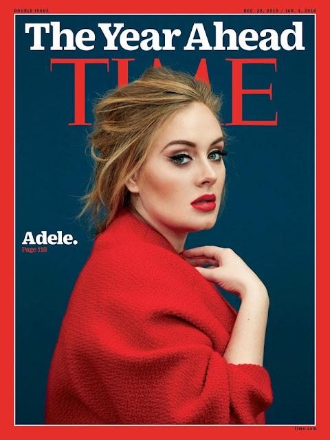Singer, @ Adele on Time Magazine December, 2015