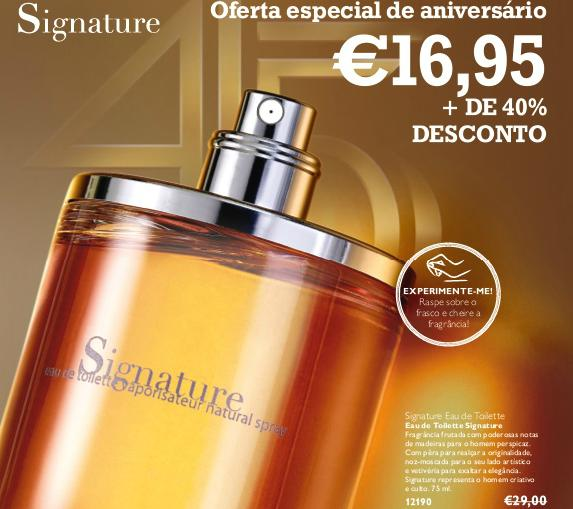 perfume oriflame signature para homem