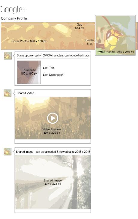 Tamaños de imagen en Google+