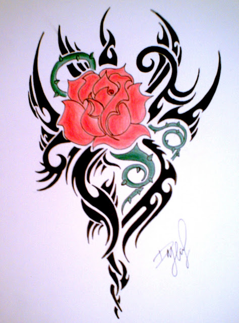 Rose tattoo pictures best tattoos king design for Tribal rose tattoo designs