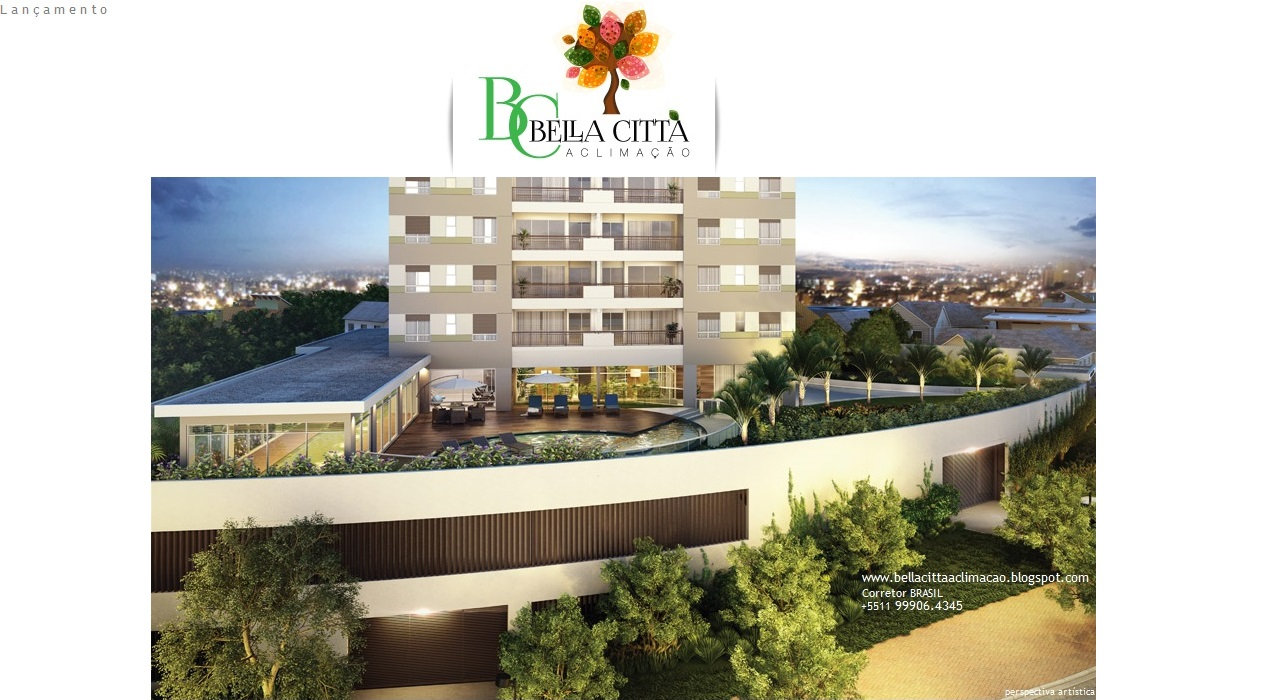 Bella Città Aclimação - Apartamentos 3 dorms.(1 suíte) 87m², 2 vagas e depósito. Cambuci-SPaulo-SP