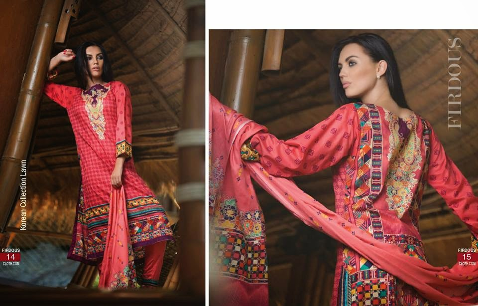 Firdous Summer Korean Lawn 2015