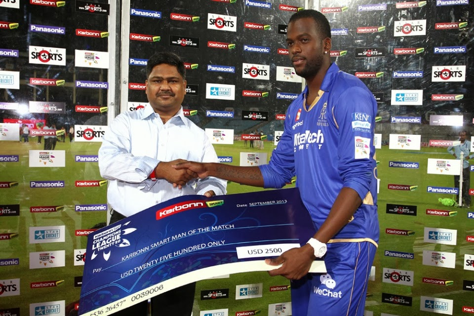 Kevon-Cooper-Man-of-the-Match-Rajasthan-Royals-vs-Perth-Scorchers-M15-CLT20-2013