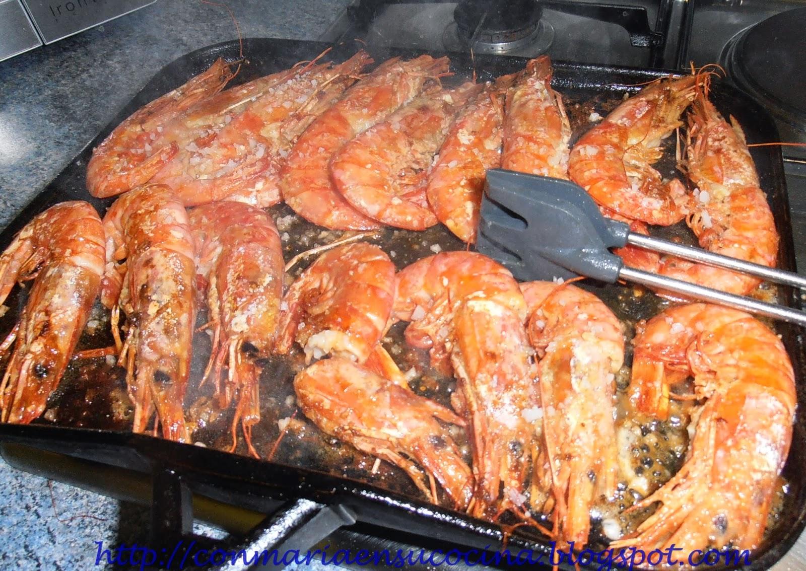 Con mar a en su cocina gambas o gambones a la plancha un placer al alcance de casi todos los - Cocinar a la plancha ...