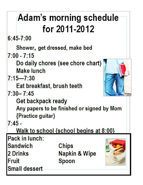 Schedules OrganizingMadeFun.com