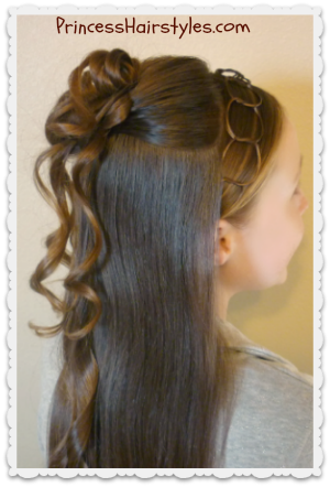 formal updo hairstyle cascading