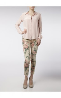 Current/Elliott Stiletto Floral Skinny Jeans
