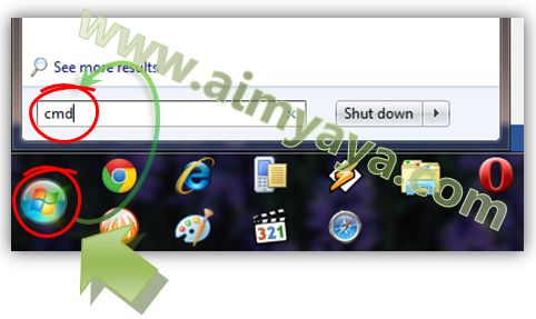 Gambar: Menjalankan Command Prompt di Windows