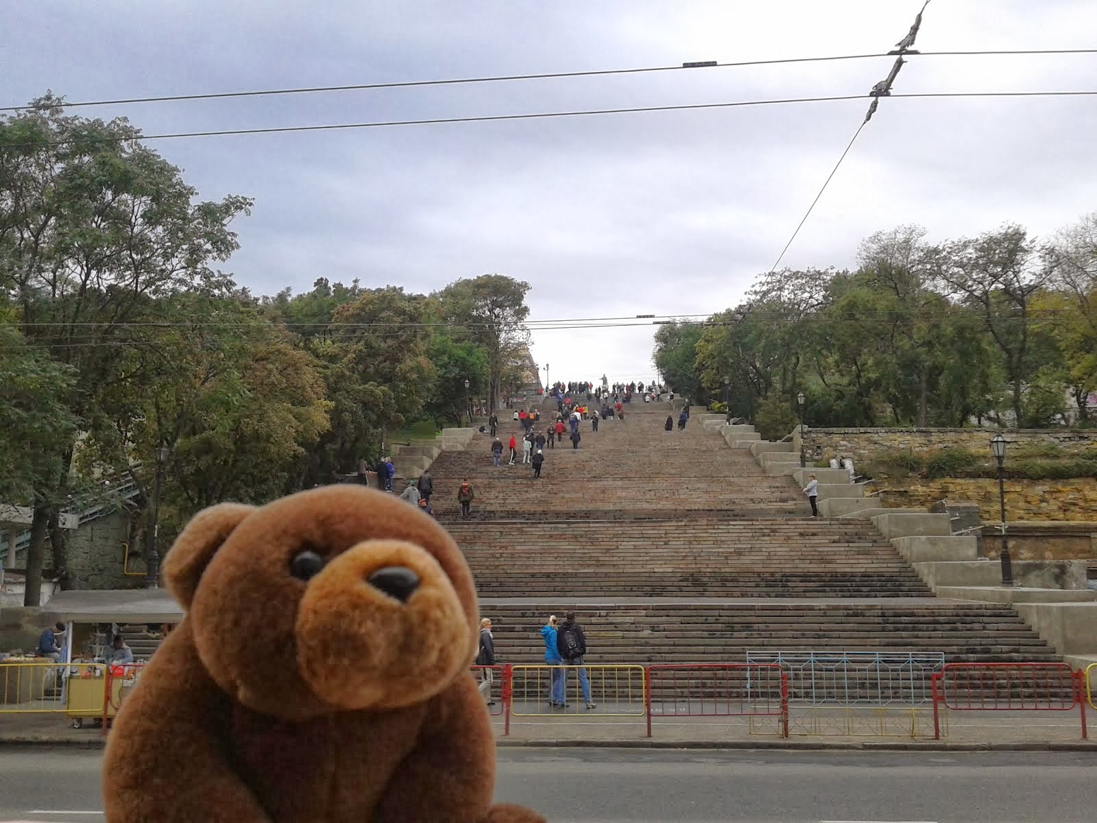 Teddy Bear in front of Potemkin Stairs,Odessa