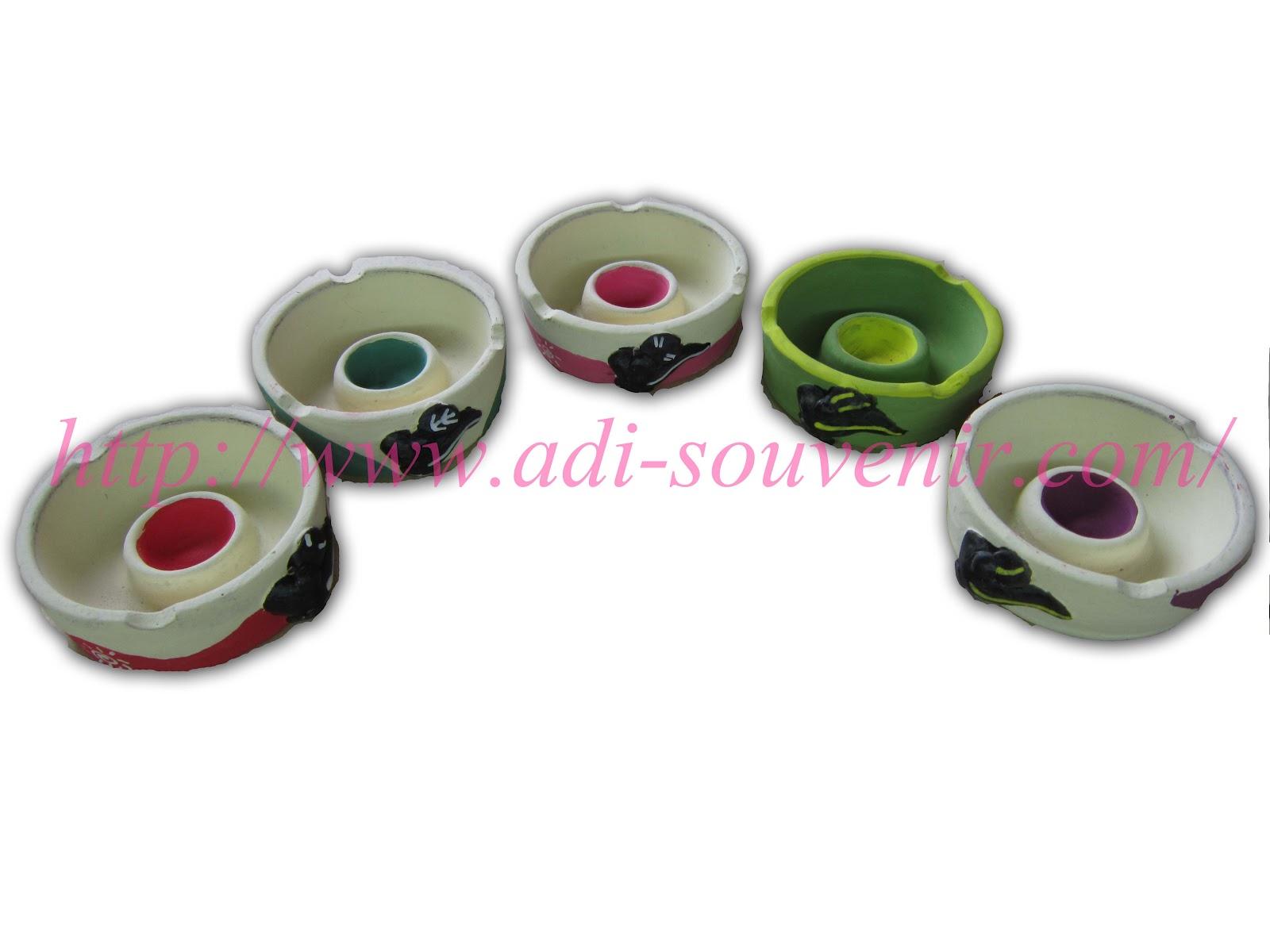 Keramik Asbak Lilin Motif Hewan Custom AKA 8 | Adi - Souvenir