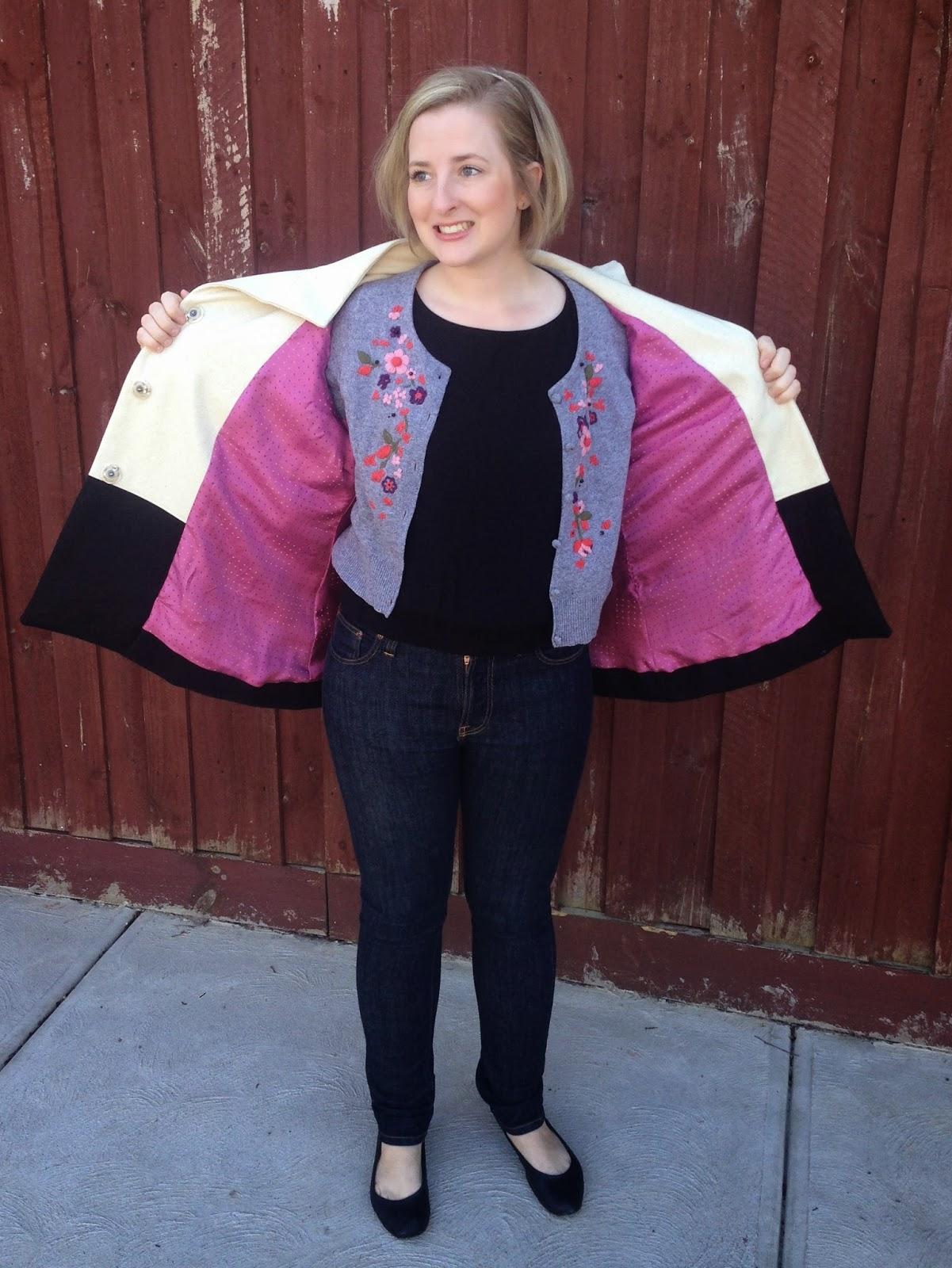 Iconic Pattern Jackie Coat