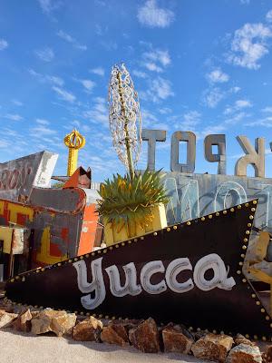 Yucca Neon Sign in the Neon Museum Boneyard