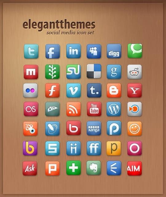 40 Sets of Free Social Media Icons