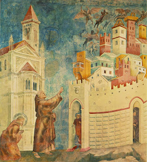 Giotto - Expulsión de los diablos de Arezzo