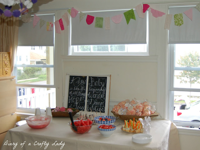 diary of a crafty lady throwing a baby shower