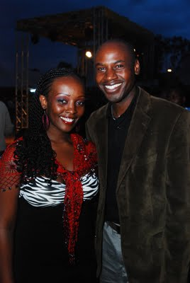Nyambane and Linda Muthama http://diasporamessenger.com/nyambanes-second-wife-linda-muthama-on-cover-magazine/