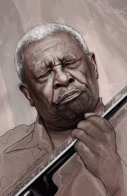 Retratos de famosos- BB king