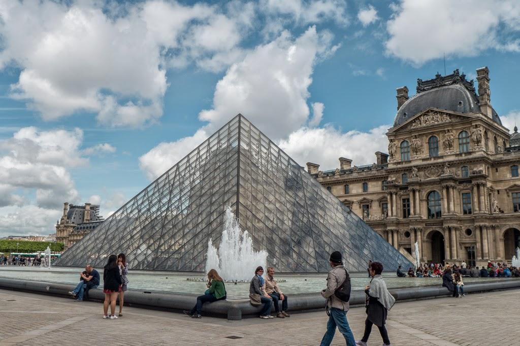 Paris France Louvre Pyramid
